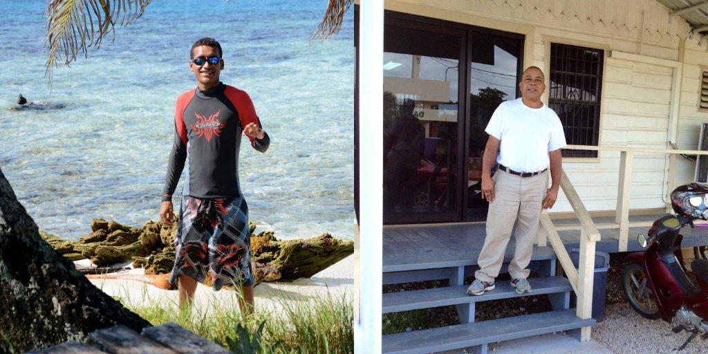 Max Canelo (L), Splash Dive Center and Elwin Ariola (R)