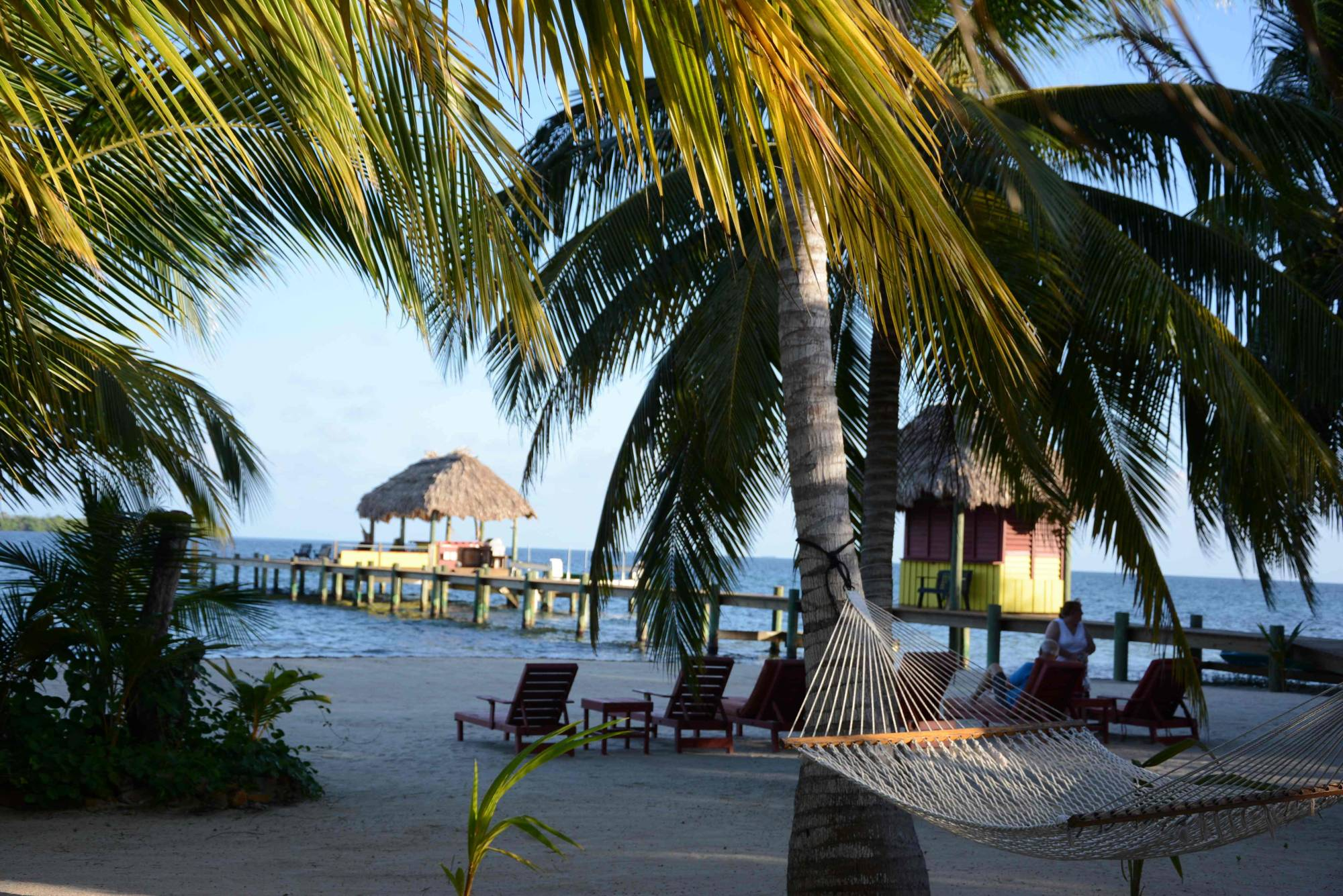 The beach at Singing Sands Resort, Belize