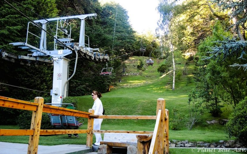 The Chairlift takes visitors to the top.