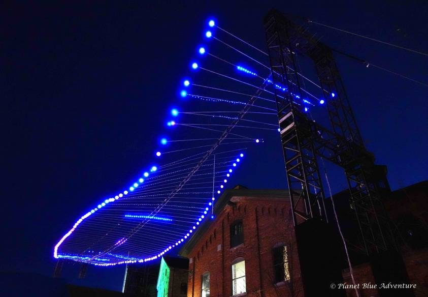 Toronto Light Fest Double Helix