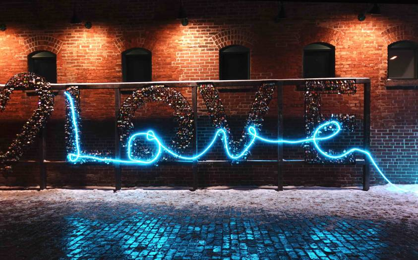 Toronto Light Fest Lit Love locks