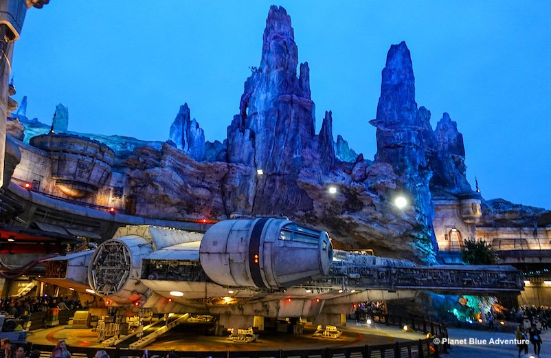 Millenium Falcon at the Star Wars Galaxy Edge